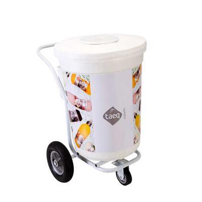 MR Cooler - Carrinho Copo 200 latas, com estrutura tubular em aço com pintura eletróstatica a pó em cores básica (alta resistência). Corpo externo e interno ( par...
