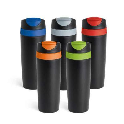 MR Cooler - Copo para viagem. PP.  Com parede dupla e tampa. Capacidade até 510 ml. Food grade. 75 x 221 mm