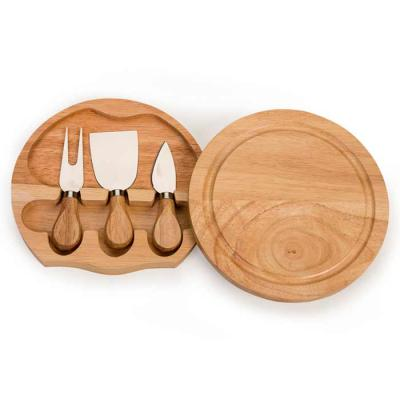 MR Cooler - Kit queijo 3 peças com tábua de madeira, possui detalhe circular em relevo na parte superior e parte inferior com borrachas anti deslizantes. Possui:...
