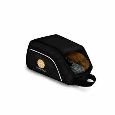 MR Cooler - Porta tênis personalizado com ventilação em tela, fechamento em zíper e alça de mão