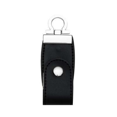 """MR Cooler - Pen drive personalizado 4GB e 8GB de couro sintético com costura, possui botão e detalhes prata(verso liso). Possui a parte inferior possui """"argola"""" p..."""