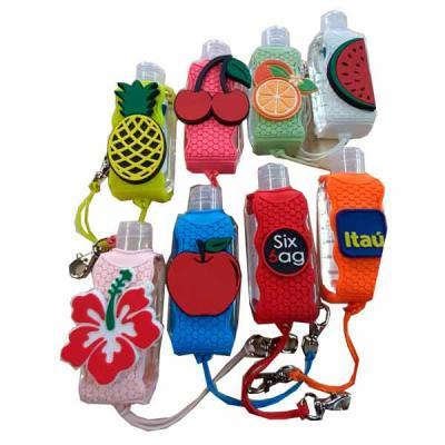 MR Cooler - Suporte para álcool gel emborrachado com personalização em alto relevo.