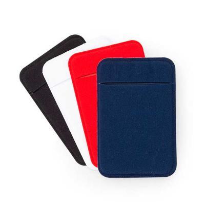 MR Cooler - Adesivo porta cartão com revestimento de lycra, para utilização basta remover o selo traseiro e colar a parte adesivada no celular.