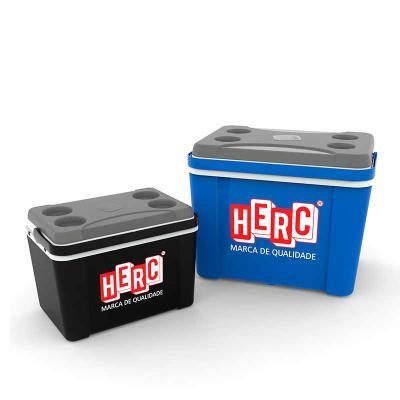 MR Cooler - Caixa T�rmica Promocional 12 litros com tampa porta lata. Impress�o com op��es de cores.