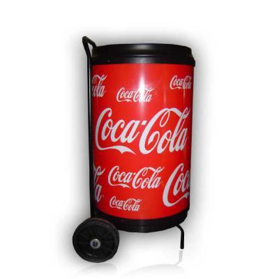 MR Cooler - Cooler com Rodas para 75 latas. Estrutura tubular em aço, com pintura eletrostatica a pó. Moldado em polietileno (PEAD). Cuba moldada em poliestileno...