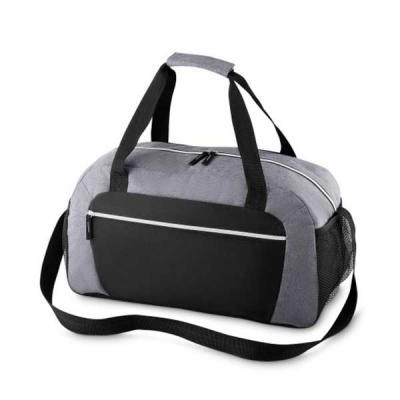 MR Cooler - Mala esportiva de poliéster. Possui alça de mão com pegador cinza de velcro, alça para costa ajustável e bolsos laterais de malha.