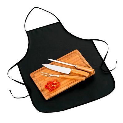 Promozionale Brindes - Kit churrasco com 5 peças de Bambu e inox