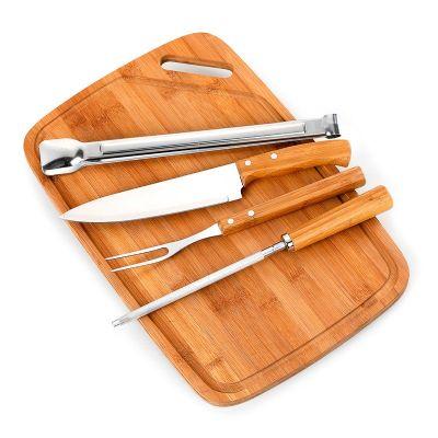 Promozionale Brindes - Kit churrasco 5 peças Bambu inox