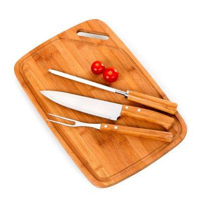 Promozionale Brindes - Kit churrasco 4 peças Bambu inox