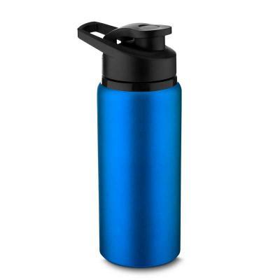 Promozionale Brindes - Squeeze em alumínio com tampa plástica. 600ml. 20 x 7,5cm. Disponível nas cores preta, azul, verde, vermelha, prata e branca.