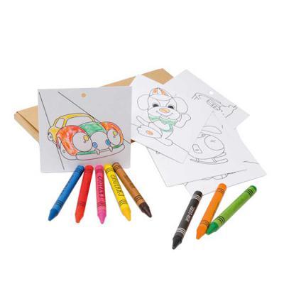 Vintore Brindes Especiais - Kit para pintar em caixa de cartão. Cartão. Incluso 8 gizes de cera e 8 cartões para pintar e pendurar. 180 x 90 x 10 mm