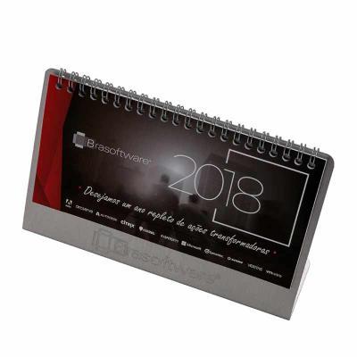 Vintore Brindes Especiais - Base Alumínio  110 x 148 mm Dobra: Miolo:12 lâminas  Papel off-set padrão, acabamento  Wire-o Fornecido  Em embalagem individual caixa de papel cartão...