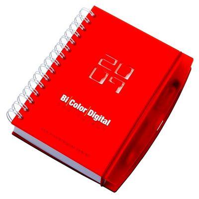Vintore Brindes Especiais - Agenda diária com capa: 145 x 205 mm, contra capa cartão revestido com papeis especias. Miolo: 140 x 200 mm 360 páginas, papel off-set - 12 meses, aca...