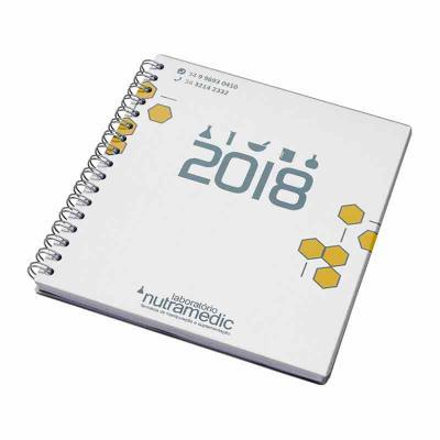 Vintore Brindes Especiais - Agenda semanal personalizada capa cartão alumínio
