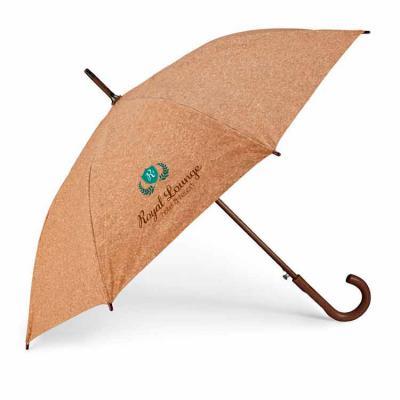 Vintore Brindes Especiais - Guarda-chuva. Cortiça. Haste e pega em madeira. Abertura automática. ø1050 mm   890 mm