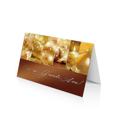 vintore-brindes-especiais - Cartão de Natal linha News Papel Supremo 250 g/m² Envelope AA 90 g/m² Formato Fechado: 20 x 14 cm