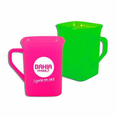 Brintec Brindes Promocionais - Cores disponíveis em: Glitter Standart Neon Metalizada  Caneca Quadrada 250ml personalizavel
