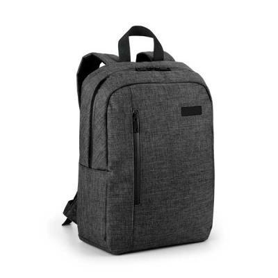 Brintec Brindes Promocionais - Mochila para notebook. 600D de alta densidade. Compartimento forrado, com 2 divisórias almofadadas para notebook até 14'' e tablet 9.7''. Bolso fronta...