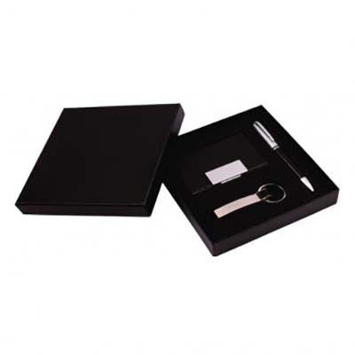 Brintec Brindes Promocionais - Kit caneta, porta cartão, chaveiro e estojo.