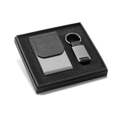 Brintec Brindes Promocionais - Kit porta cartão e chaveiro