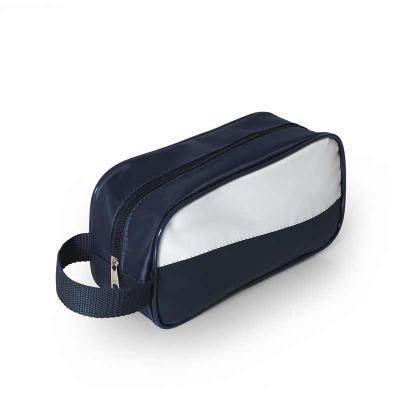 Brintec Brindes Promocionais - Necessaire em nylon 70 plastificado , alça fita reforçada , com vivo brilhante
