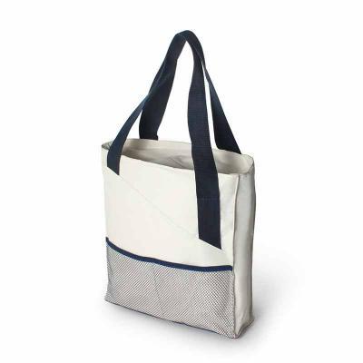 Brintec Brindes Promocionais - Sacola térmica com bolso frontal em tela e alças fita reforçada.