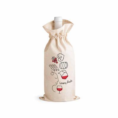 Brintec Brindes Promocionais - Sacola para garrafa 100% algodão