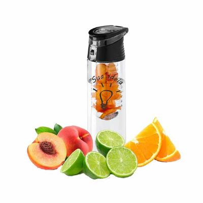 Brintec Brindes Promocionais - Squeeze com infusor de frutas  Capacidade: 740 ml  incremente sua água com frutas, experimente essa novidade, garrafa de água plástica