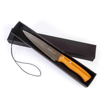 amelio-gourmet - Faca personalizada com cabo de bambu