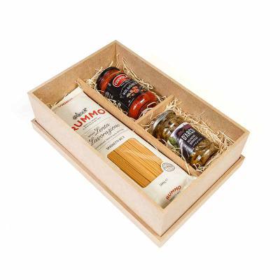 Amélio Presentes - Kit Gourmet com massa especial italiana, molho vermelho e aperitivo