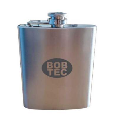 Royal Laser - Cantil de aço inox de bolso para Whisky. Personalização da logomarca a laser. Despachamos com frete pago para todo o Brasil