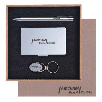 Royal Laser - Kit caneta, porta cartão e chaveiro