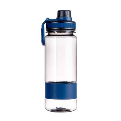 MSN Brindes - Squeeze 700ml de plástico com alça. Tampa do squeeze e tampa de bico rosqueáveis, possui borracha inferior e detalhe emborrachado com relevo na tampa....