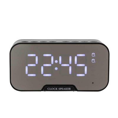 msn-brindes - Caixa de Som Multimídia com Relógio e Suporte para Celular