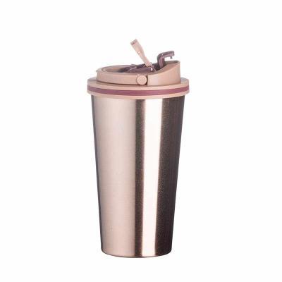 MSN Brindes - Copo Metal 450ml Copo de metal 450ml com tampa. Copo com parte inferior emborrachada antideslizante, tampa rosqueável com alça para transporte e alava...