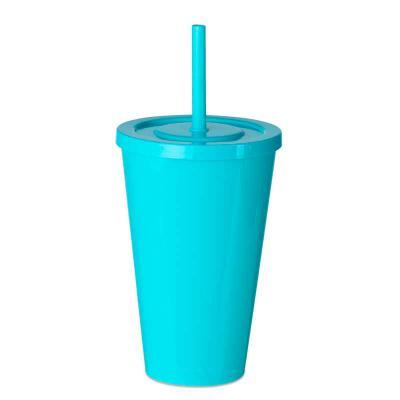 MSN Brindes - Copo plástico 600ml com tampa e canudo, pintura leitosa. Medidas aproximadas para gravação (CxD):14 cm x 7 cm Tamanho total aproximado (CxD):16 cm x 9...