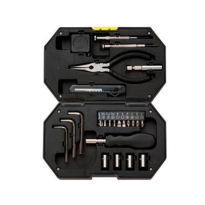 MSN Brindes - Kit ferramenta 24 peças com lanterna acoplada no estojo.
