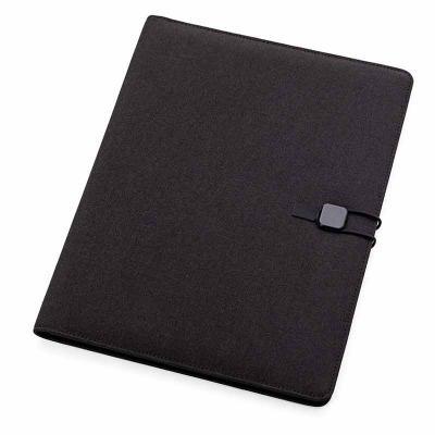 MSN Brindes - Pasta convenção com capa almofadada em tecido de poliéster. Contém 20 folhas para anotação, porta canetas, porta documentos e porta cartão internos. P...