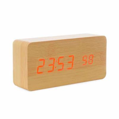 MSN Brindes - Relógio de Madeira com Display LED