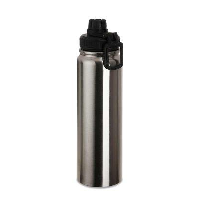 MSN Brindes - Squeeze metálico 1,1 litro com alça para transporte, possui tampa com detalhe emborrachado e tampa protetora para o bocal. Altura :  27,5 cm Largura :...