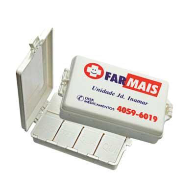 MSN Brindes - Porta comprimido com 8 divisões. Tamanho: 2x6x8,5cm