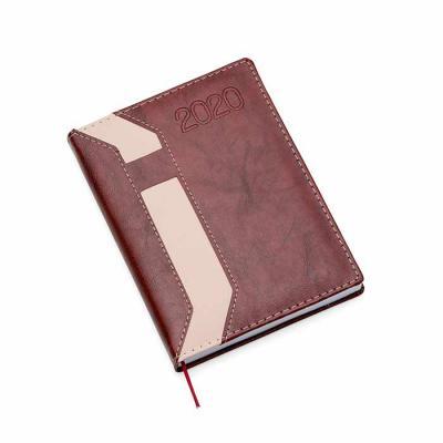 Cross Brindes - Agenda diária em couro sintético com suporte para caneta.