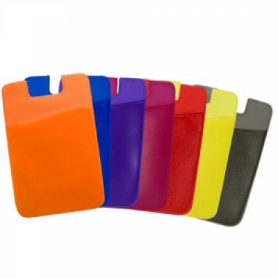 Cross Brindes - Adesivo porta cartão para celular, basta remover o selo traseiro e colar a parte adesivada no celular. Material de pvc com textura lisa, parte interna...