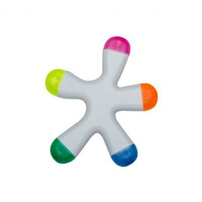 cross-brindes - Caneta Marca Texto Splash Personalizado na cor branca de frente e verso liso, possui as cores: azul, amarelo, laranja, rosa e verde. Altura :  10,1 cm...