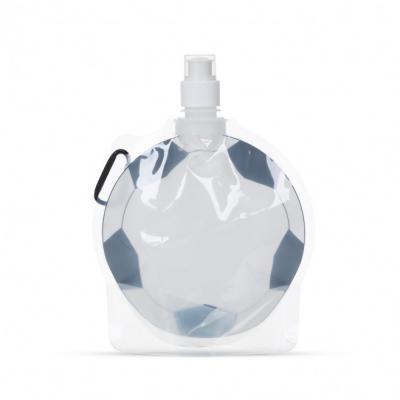 Cross Brindes - Squeeze dobrável personalizado 750ml formato bola de futebol. Frente estampada bola e verso transparente, possui tampa de bico rosqueável com proteção...