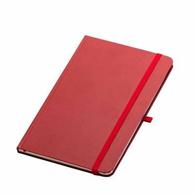 """Cross Brindes - Caderneta em couro sintético com elástico suporte para caneta, fita elástica para fechar e fita """"marca página"""" em nylon. Possui aproximadamente 80 fol..."""