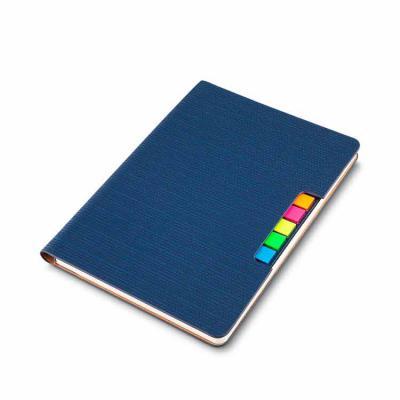 Cross Brindes - Caderno com autoadesivos confeccionado com capa sintética. Capa interna com cinco bloquinhos autoadesivos coloridos com aproximadamente 25 folhas cada...