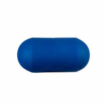 Cross Brindes - Cápsula anti stress emborrachada na cor azul.