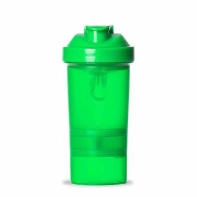 Cross Brindes - Coqueteleira 400ml plástica porta suplementos desmontável. Possui: copo 400ml(medida em ml e oz), compartimento com divisória para comprimidos, compar...
