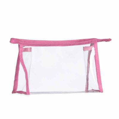 Cross Brindes - Necessaire plástica transparente com detalhe colorido em nylon. Altura :  13,8cm Largura :  22cm Profundidade :  6,3 cm